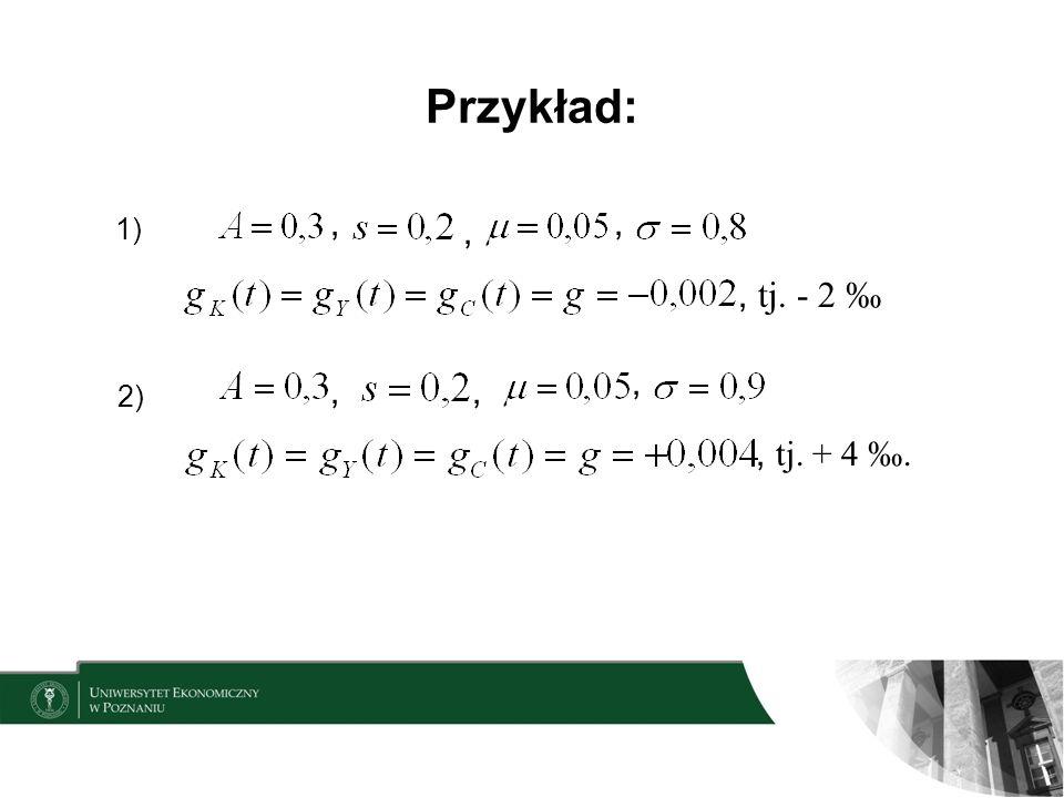Przykład: , , 1) , , tj. - 2 ‰ , , , 2) , tj. + 4 ‰.