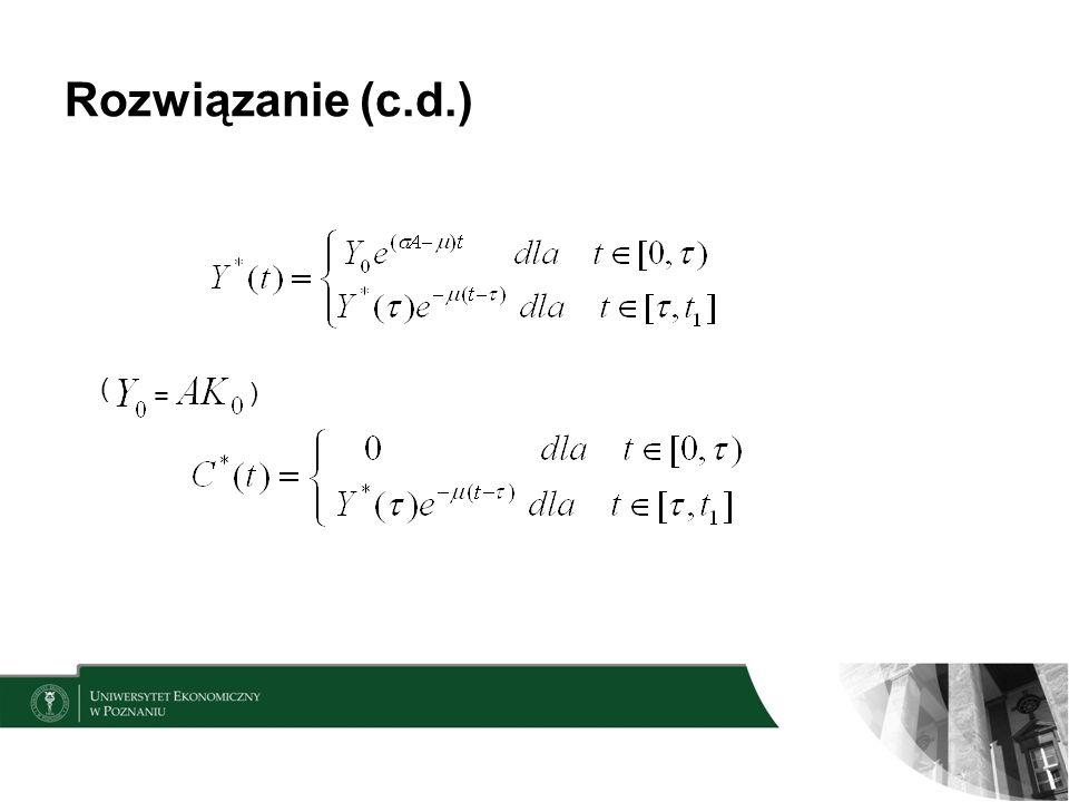 Rozwiązanie (c.d.) ( = )