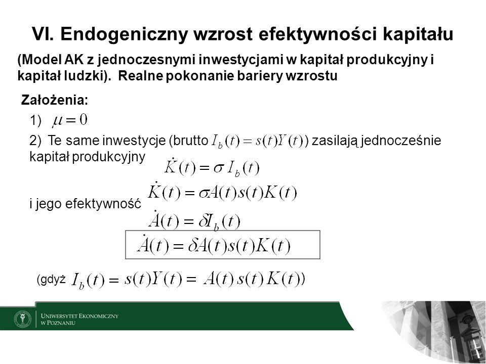 VI. Endogeniczny wzrost efektywności kapitału