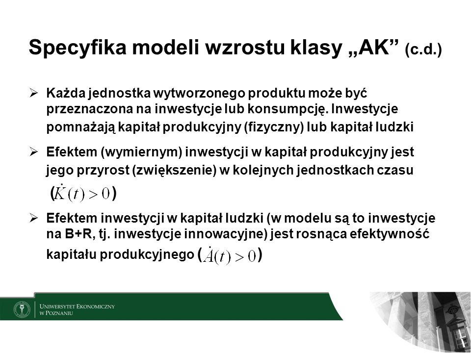 """Specyfika modeli wzrostu klasy """"AK (c.d.)"""