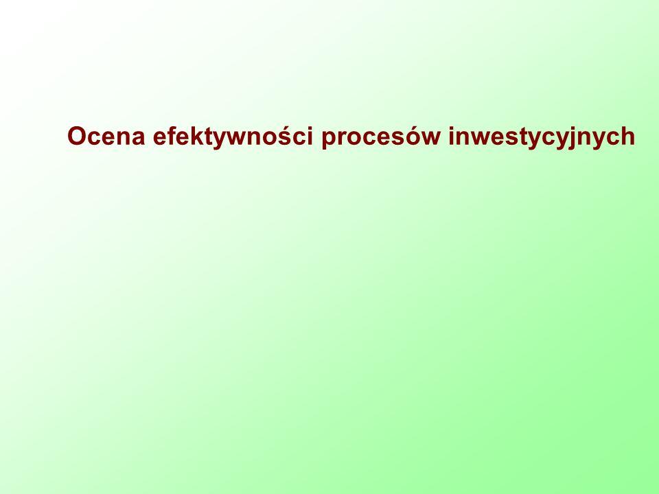 Ocena efektywności procesów inwestycyjnych