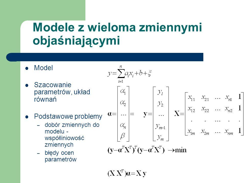 Modele z wieloma zmiennymi objaśniającymi