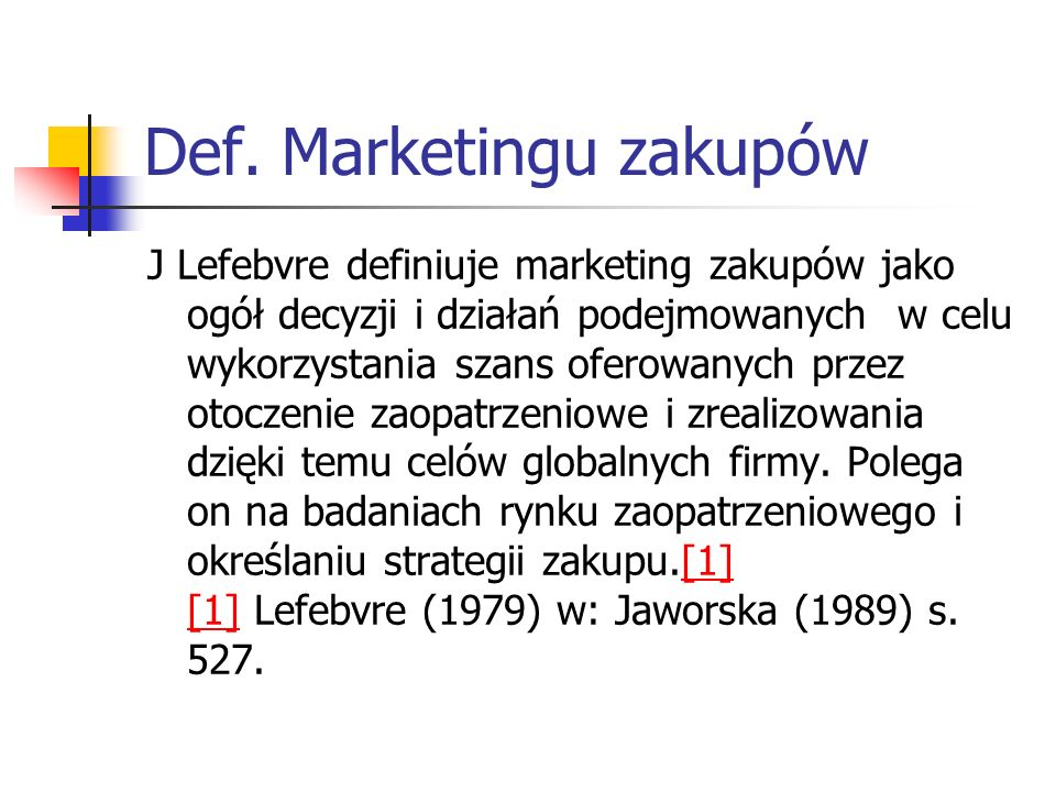 Def. Marketingu zakupów