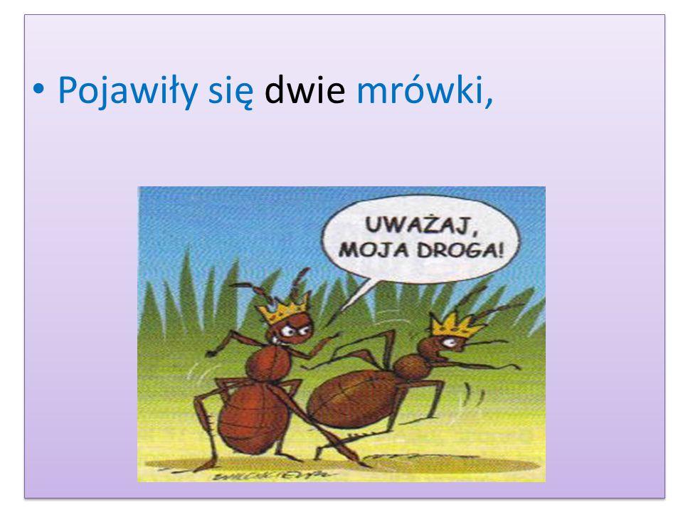 Pojawiły się dwie mrówki,