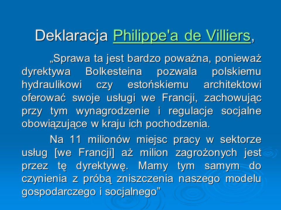 Deklaracja Philippe a de Villiers,