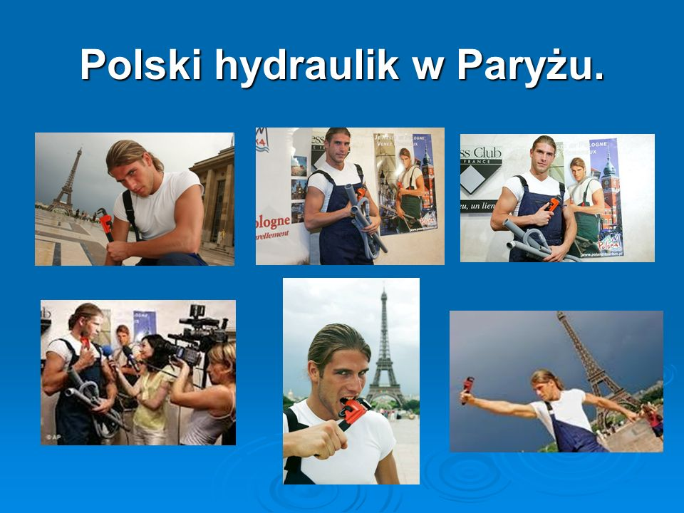 Polski hydraulik w Paryżu.
