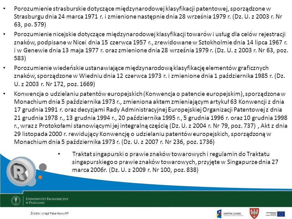 Traktat singapurski o prawie znaków towarowych i regulamin do Traktatu