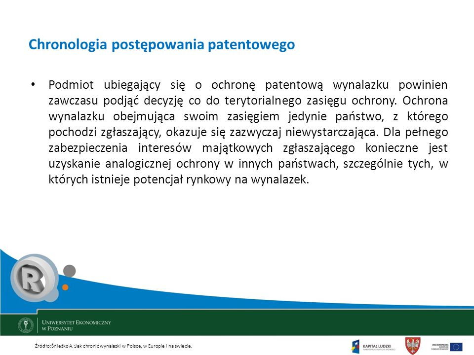 Chronologia postępowania patentowego