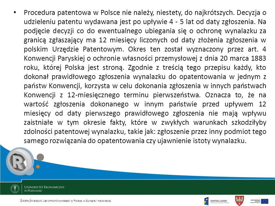 Procedura patentowa w Polsce nie należy, niestety, do najkrótszych