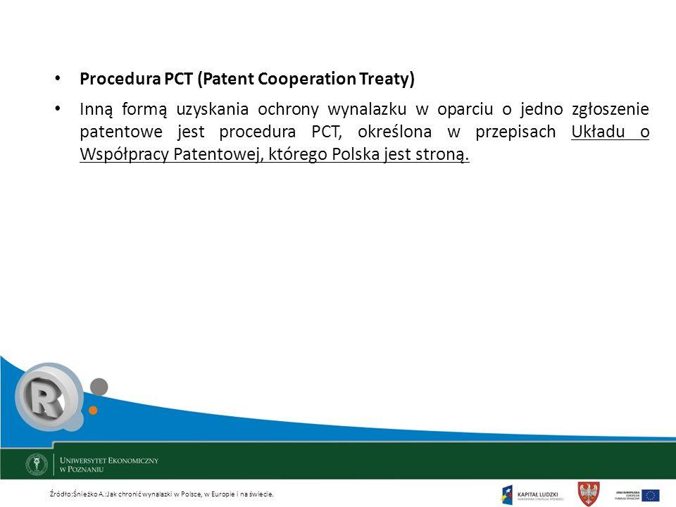 Procedura PCT (Patent Cooperation Treaty)