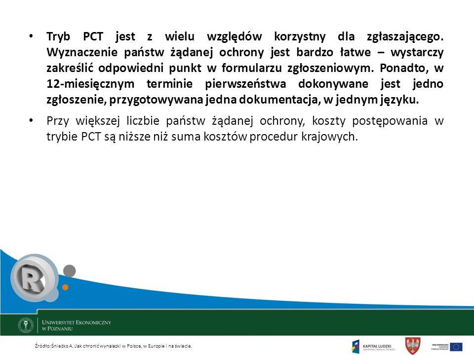 Tryb PCT jest z wielu względów korzystny dla zgłaszającego