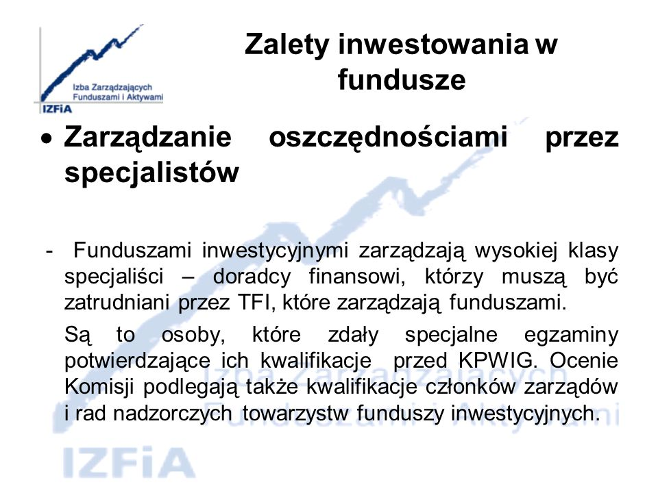 Zalety inwestowania w fundusze