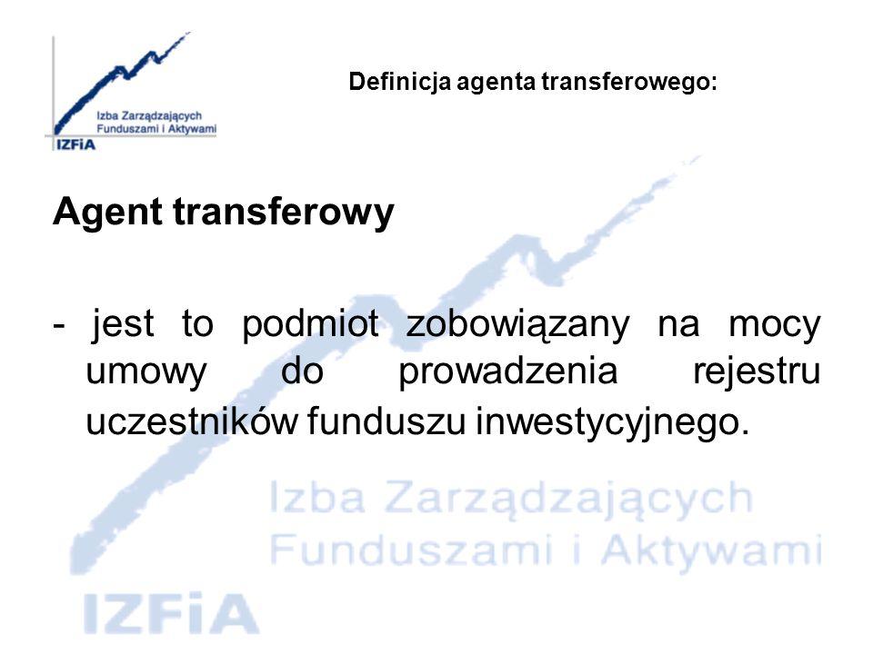 Definicja agenta transferowego: