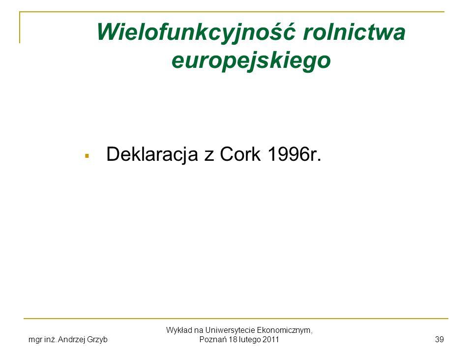 Wielofunkcyjność rolnictwa europejskiego