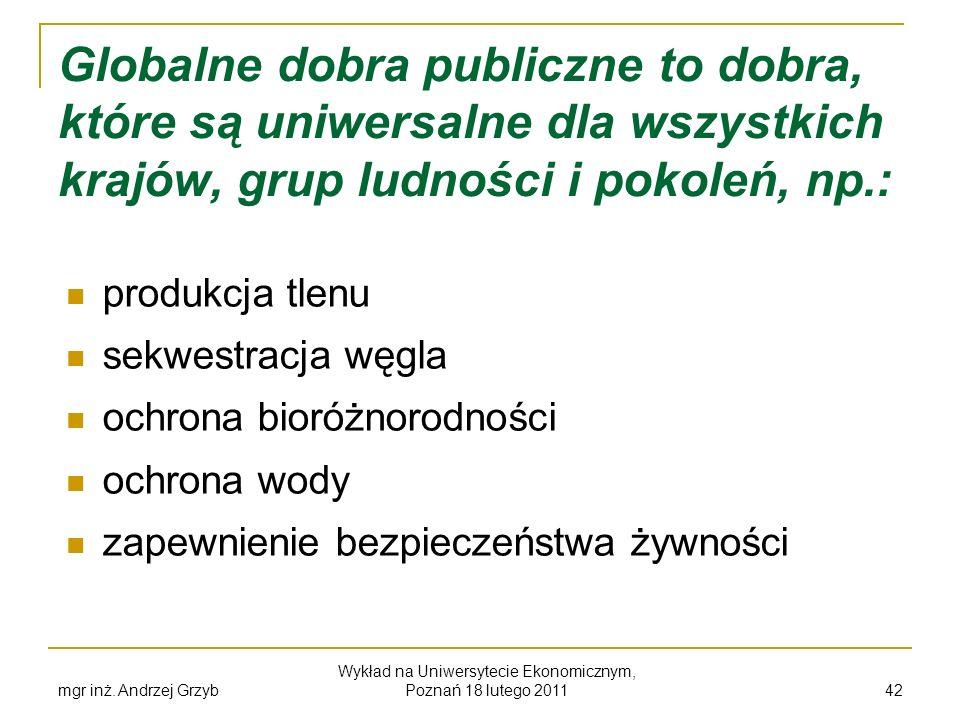 Wykład na Uniwersytecie Ekonomicznym, Poznań 18 lutego 2011