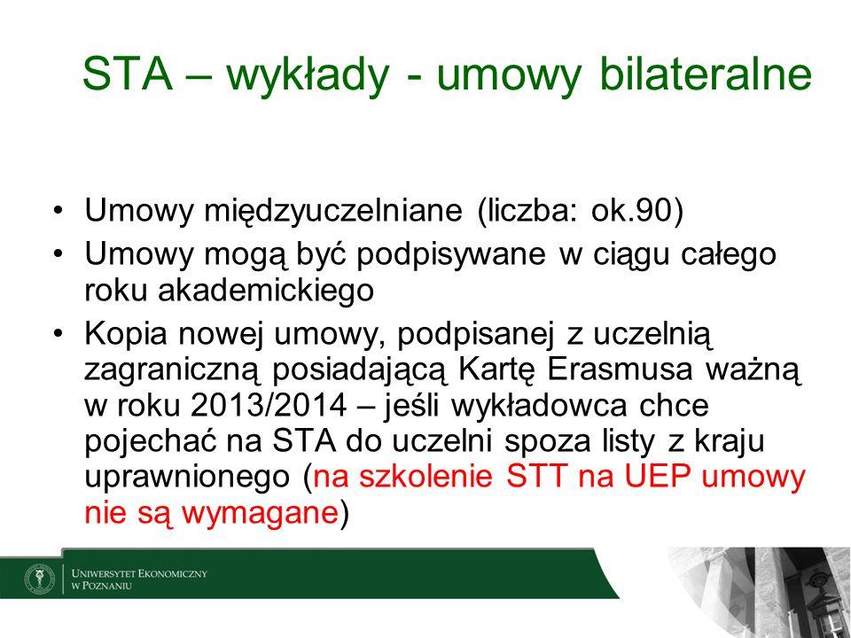 STA – wykłady - umowy bilateralne