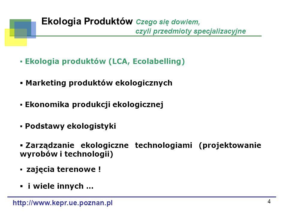 Ekologia Produktów Czego się dowiem, czyli przedmioty specjalizacyjne