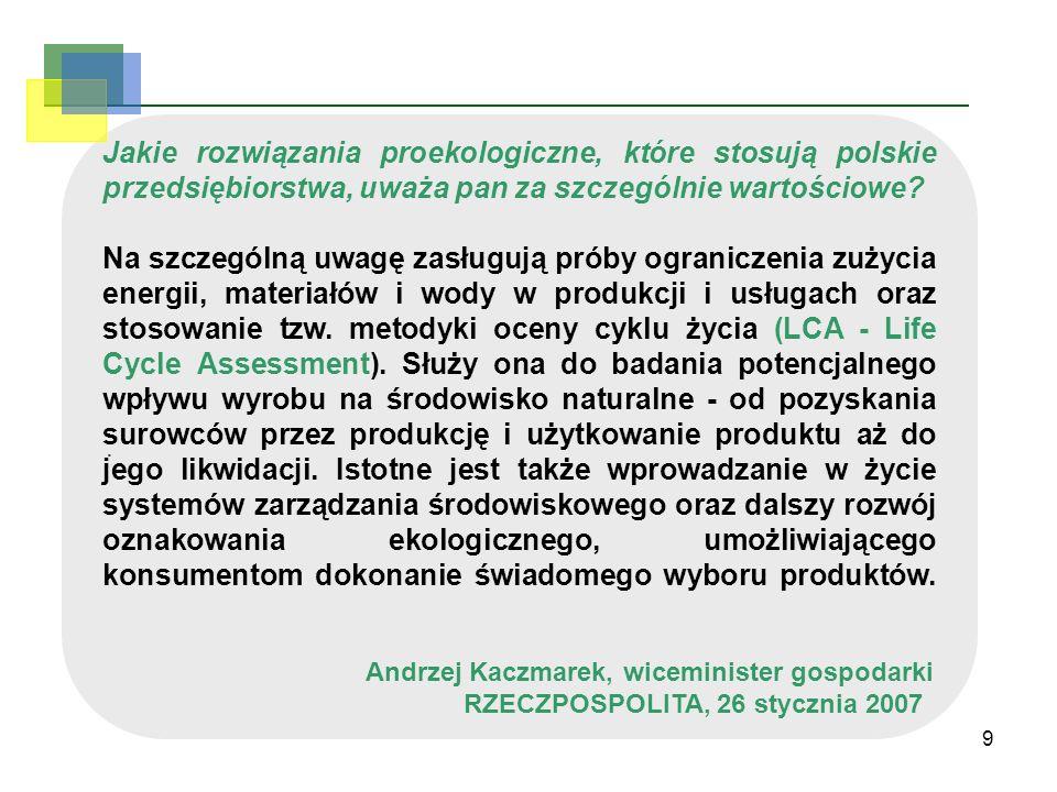 Jakie rozwiązania proekologiczne, które stosują polskie przedsiębiorstwa, uważa pan za szczególnie wartościowe