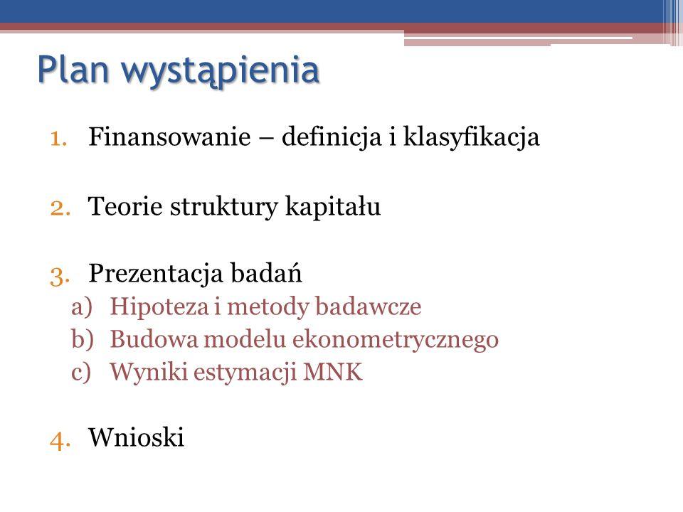 Plan wystąpienia Finansowanie – definicja i klasyfikacja