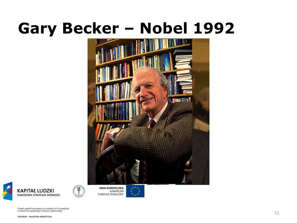 Gary Becker – Nobel 1992