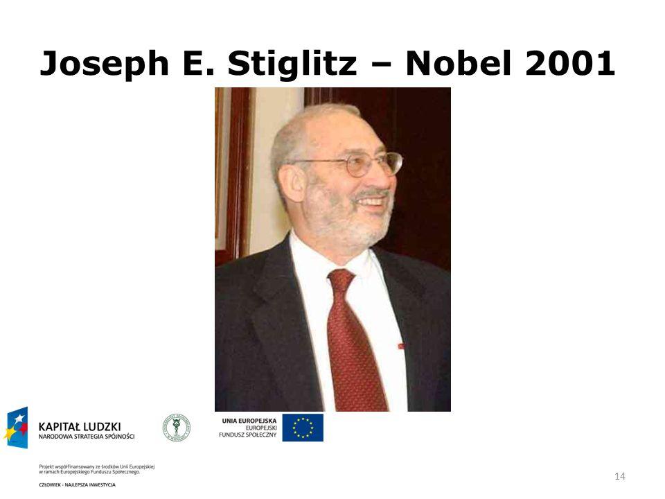Joseph E. Stiglitz – Nobel 2001