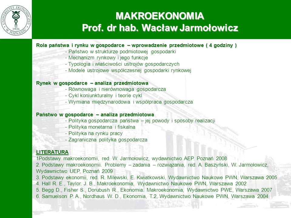 Prof. dr hab. Wacław Jarmołowicz