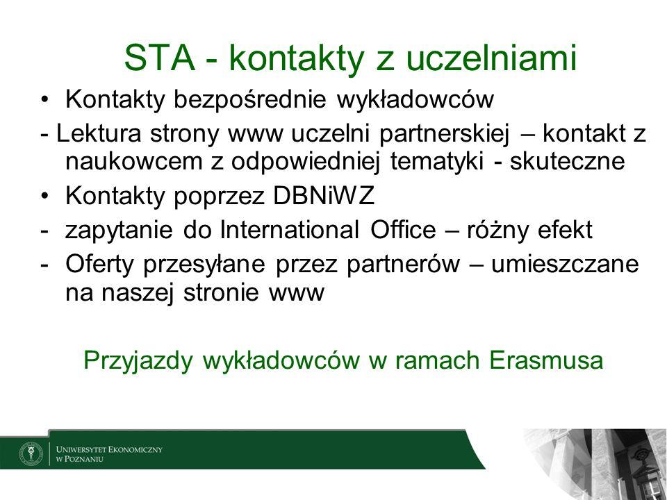 STA - kontakty z uczelniami