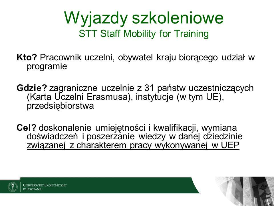 Wyjazdy szkoleniowe STT Staff Mobility for Training