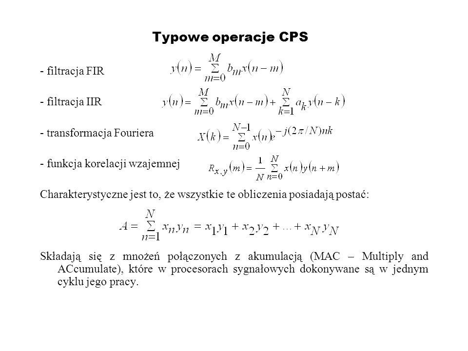 Typowe operacje CPS - filtracja FIR - filtracja IIR