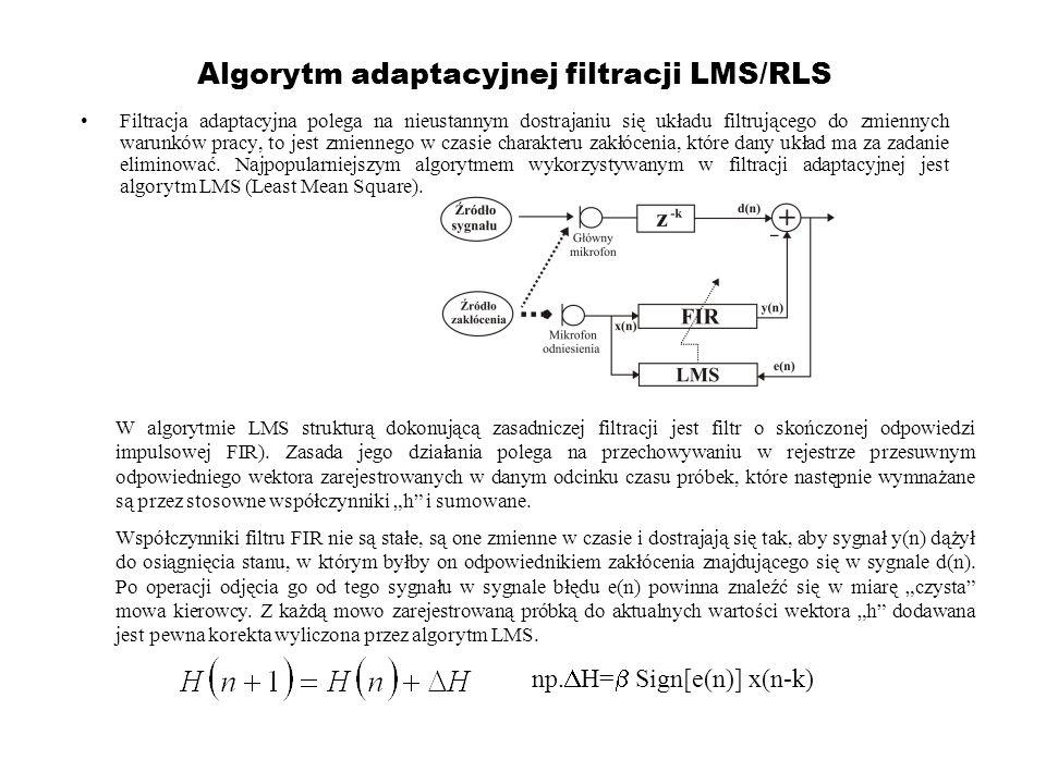 Algorytm adaptacyjnej filtracji LMS/RLS