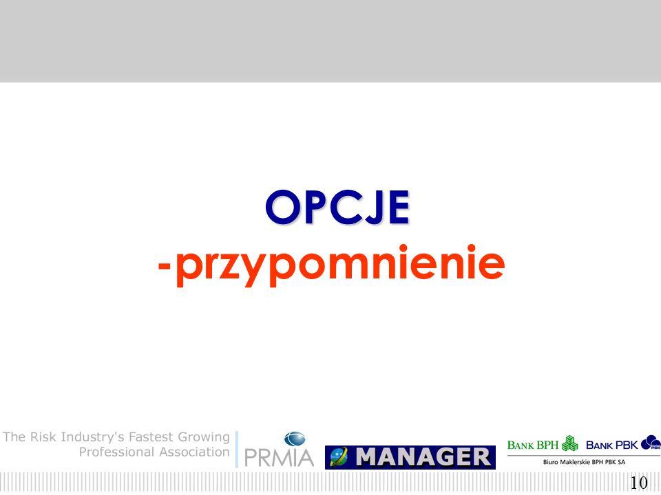 OPCJE -przypomnienie