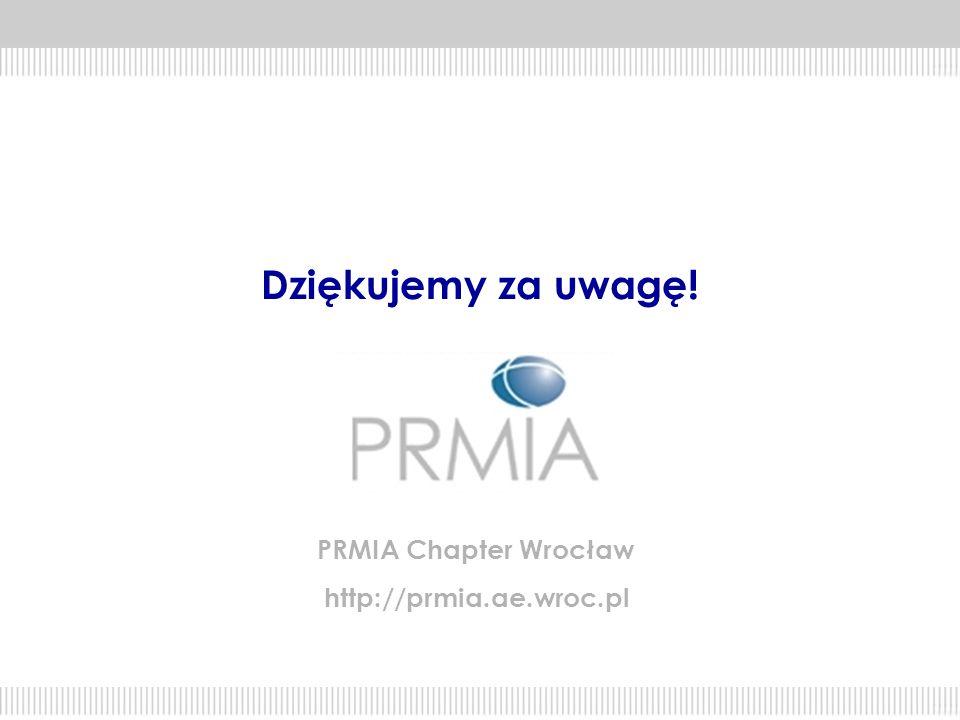Dziękujemy za uwagę! PRMIA Chapter Wrocław http://prmia.ae.wroc.pl