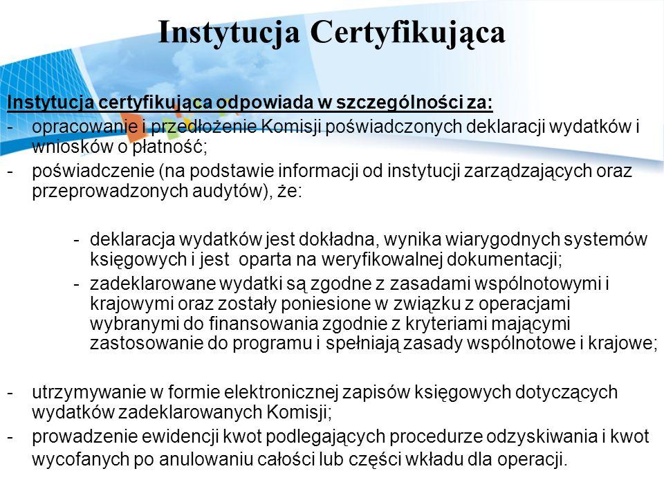 Instytucja Certyfikująca
