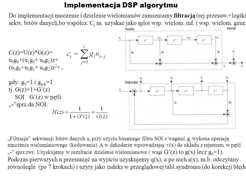 Implementacja DSP algorytmu