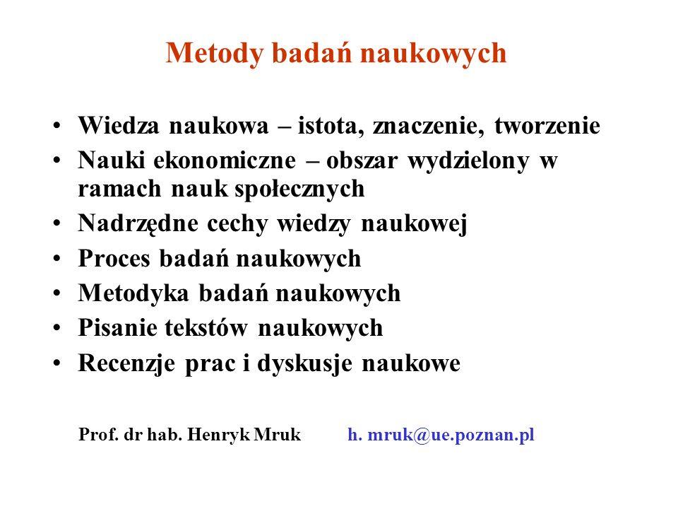 Metody badań naukowych