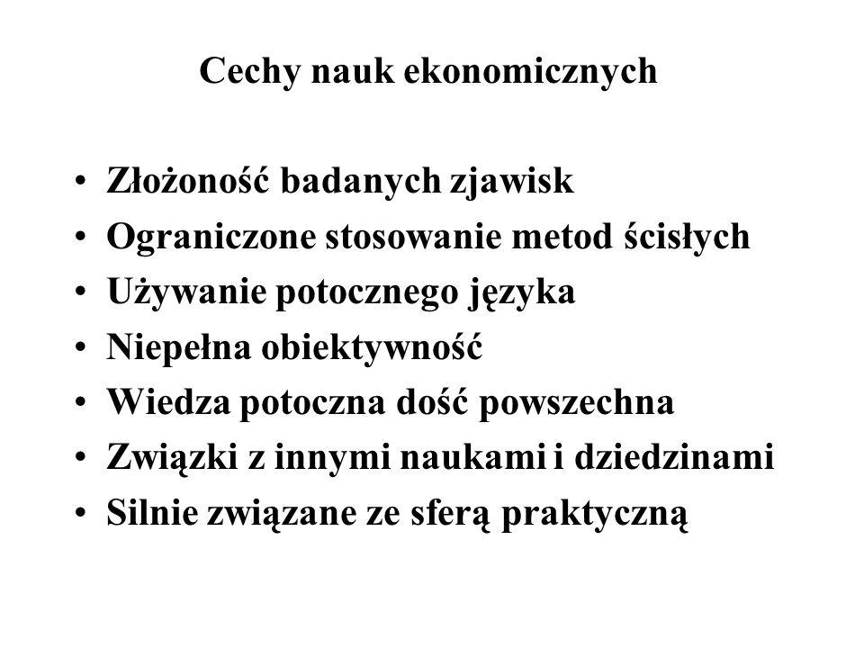 Cechy nauk ekonomicznych