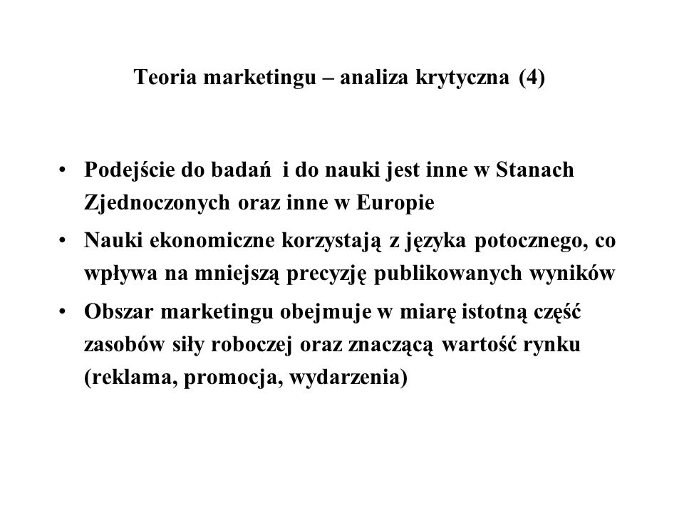 Teoria marketingu – analiza krytyczna (4)