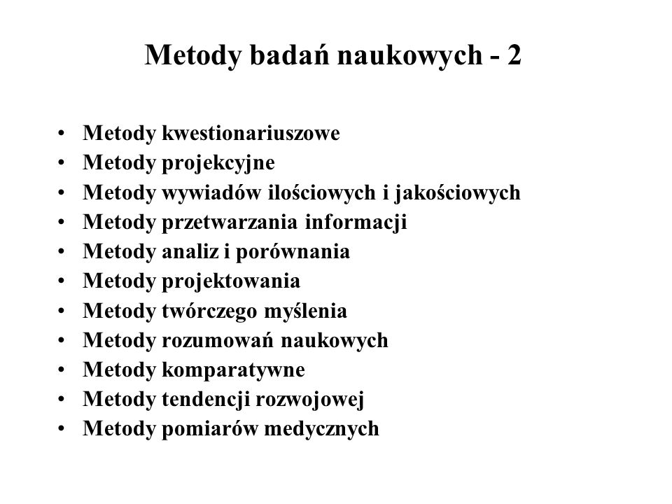 Metody badań naukowych - 2