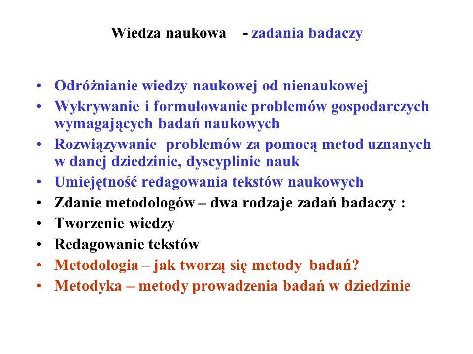 Wiedza naukowa - zadania badaczy