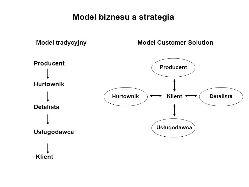 Model biznesu a strategia Model Customer Solution
