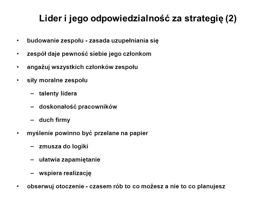 Lider i jego odpowiedzialność za strategię (2)
