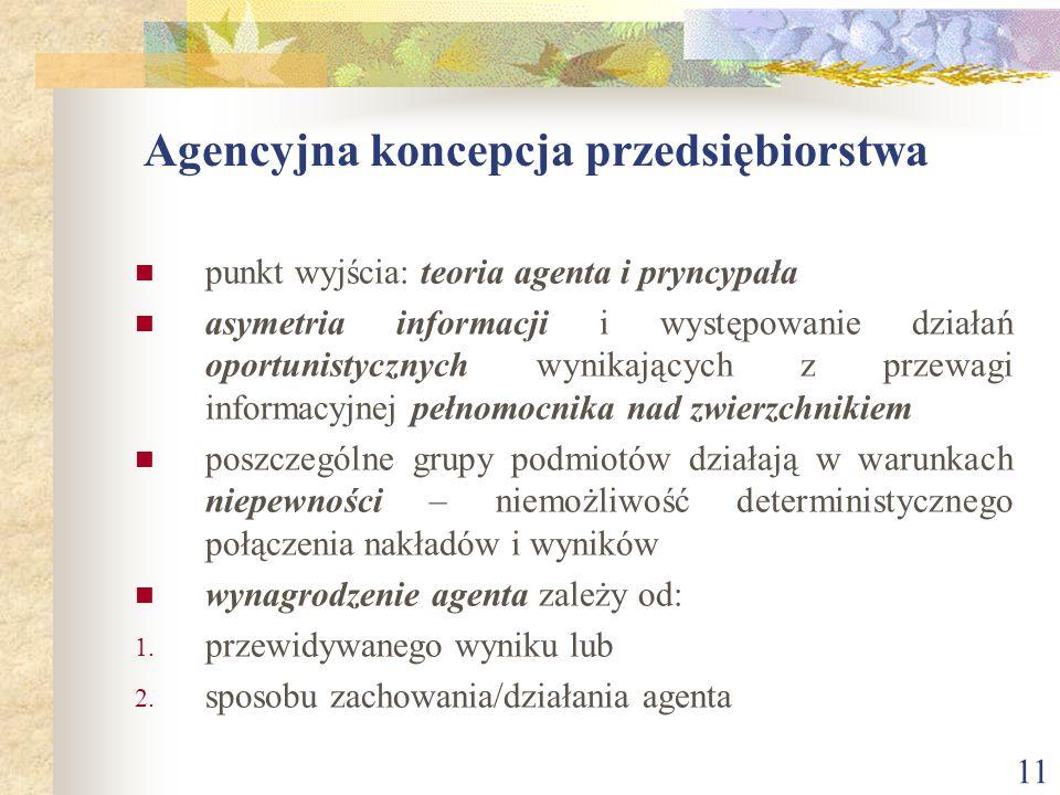 Agencyjna koncepcja przedsiębiorstwa
