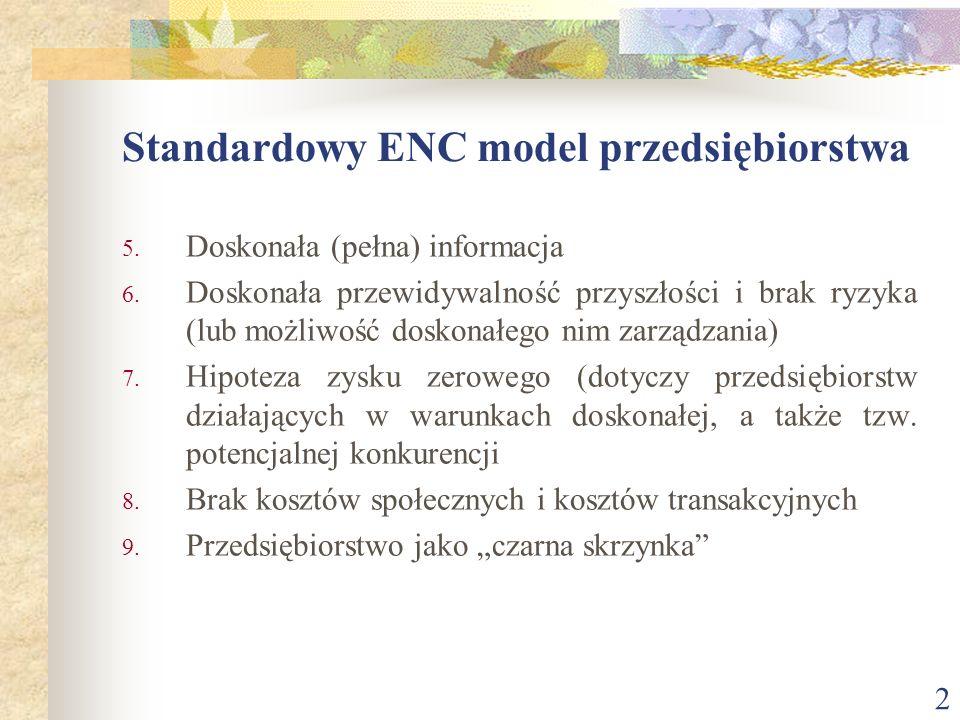 Standardowy ENC model przedsiębiorstwa