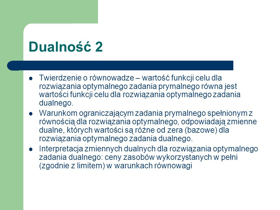 Dualność 2