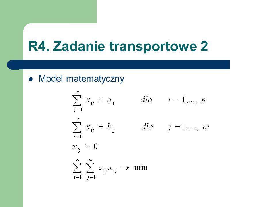 R4. Zadanie transportowe 2