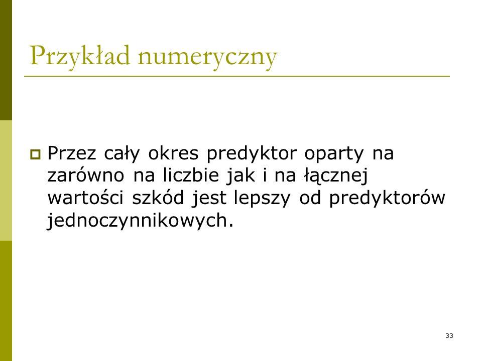 Przykład numeryczny