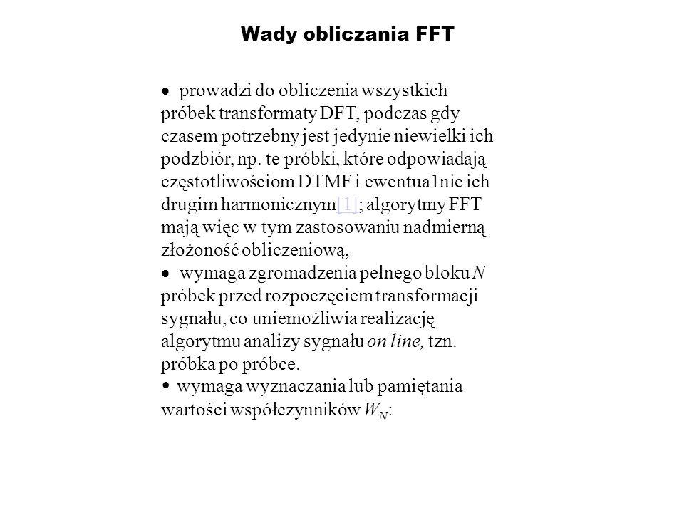 Wady obliczania FFT