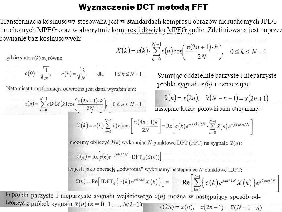 Wyznaczenie DCT metodą FFT