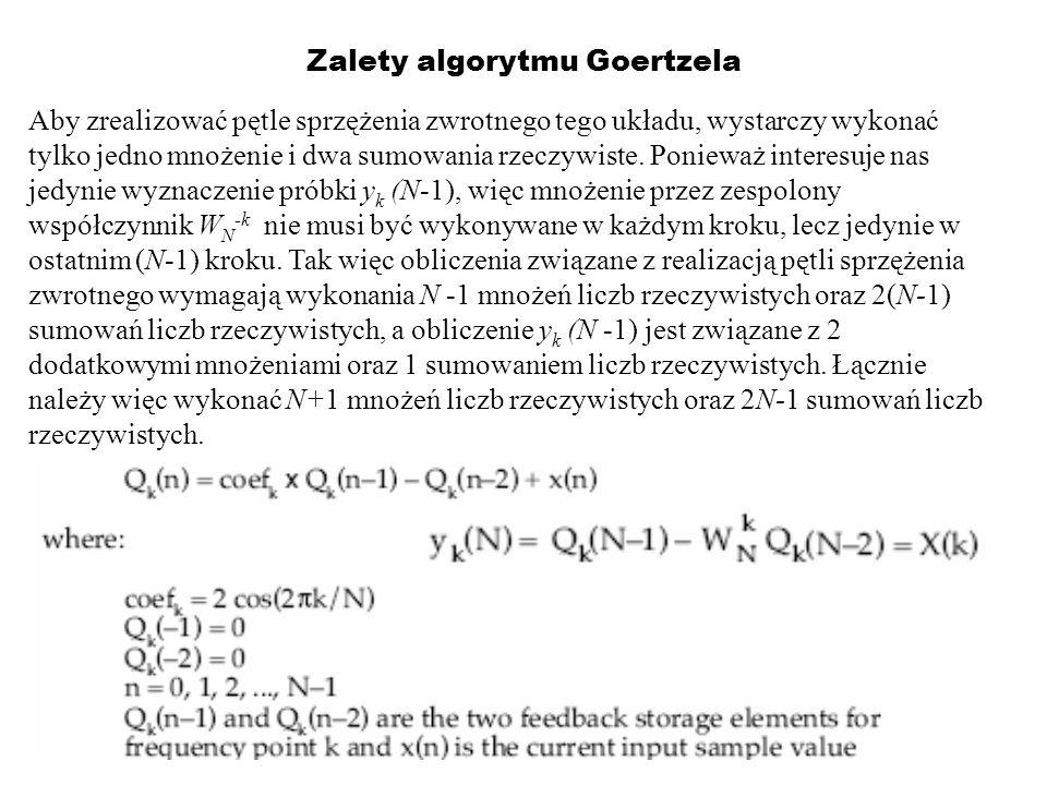 Zalety algorytmu Goertzela