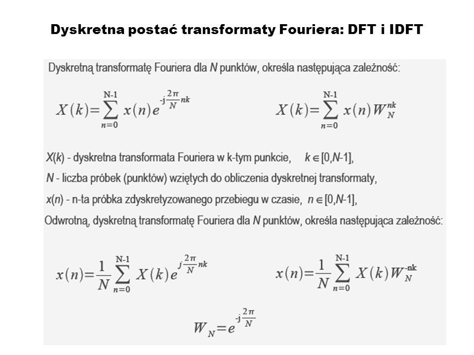 Dyskretna postać transformaty Fouriera: DFT i IDFT